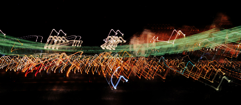 Bewegte Lichtspuren....Begegnungen in Budapest